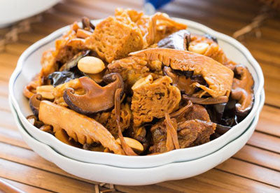 Braised Wheat Gluten with Mushrooms 四喜烤麩 1KG - Katering 點點到會