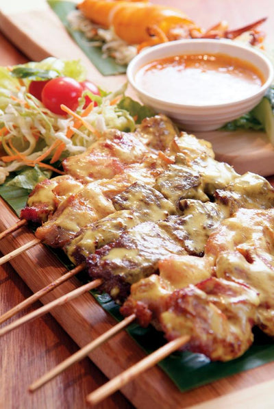 Thai Style Pork Skewer 泰式豬頸肉串燒