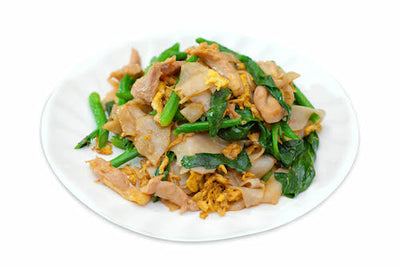 Fried Rice Noodle with Pork in Thai Style 泰式乾炒河粉(豬肉) - Katering 點點到會