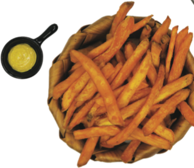 Sweet Potato Fries, Curry DIP 咖喱蕃薯條 - Katering 點點到會