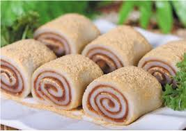 Ying Yang Glutinous Rice Roll stuffed with Mashed Red Bean 鴛鴦驢打滾 24pcs - Katering 點點到會