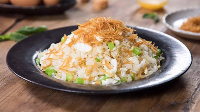 Fried Pice with Dried Scallops, Shrimps and Egg White 瑤柱蝦仁蛋白炒飯 1KG - Katering 點點到會