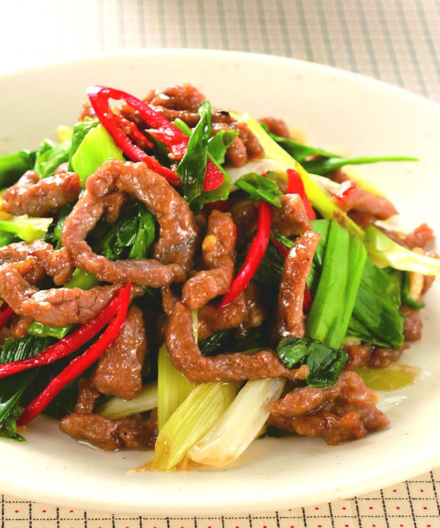 Stir Fried Beef and Leek with Pancake (Pancake 12 pcs) 蔥爆牛肉配薄餅(薄餅12件) - Katering 點點到會