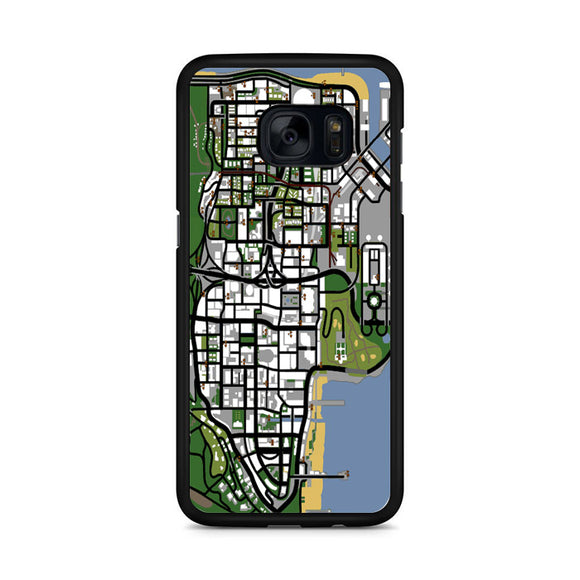 Map GTA San Andreas Samsung Galaxy S7 Edge Case