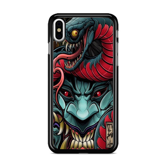 Snake And The Demon iPhone XS Case