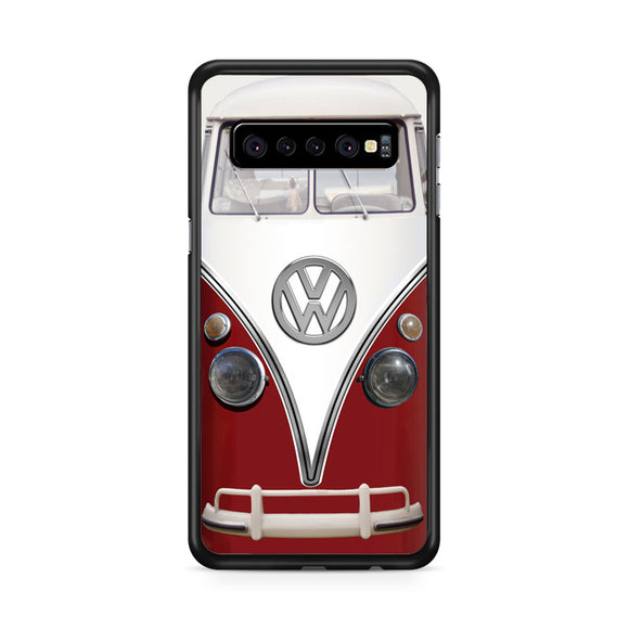 Vintage VW Bus Red Refrigerator Wrap