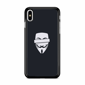 Anonymous Cencored Eye Mask Ilyst Minimal iPhone X Case | Republicase