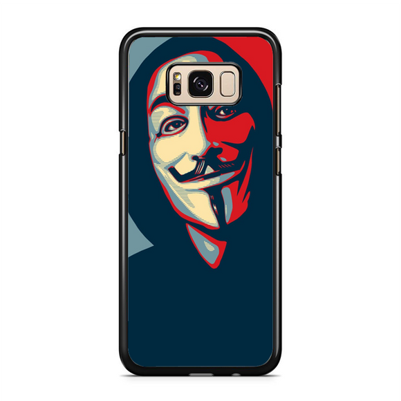 Anonymous Mask Style Samsung Galaxy S8 Plus Case | Republicase