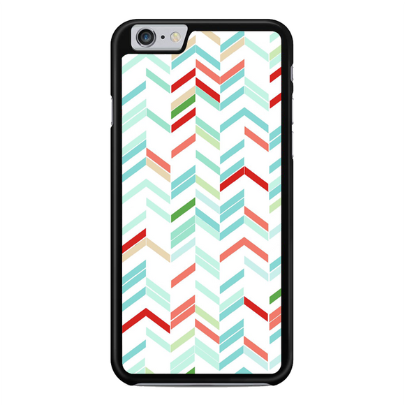 Blue Green Red White Chevron Lines Stripes Arrows iPhone 6 Plus / 6S Plus Case | Republicase