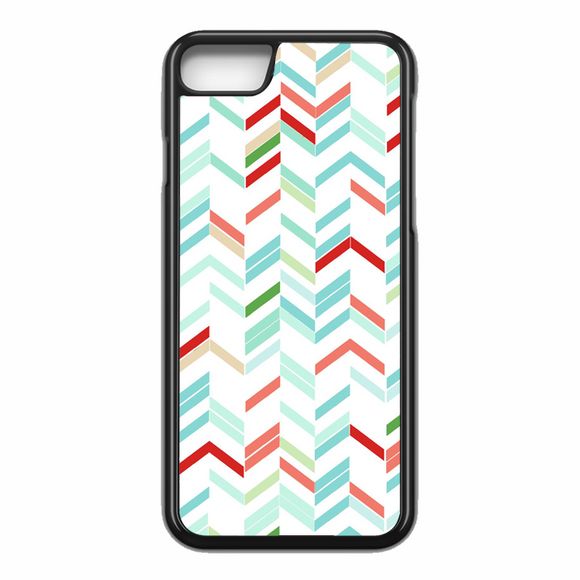 Blue Green Red White Chevron Lines Stripes Arrows iPhone 7 Case | Republicase