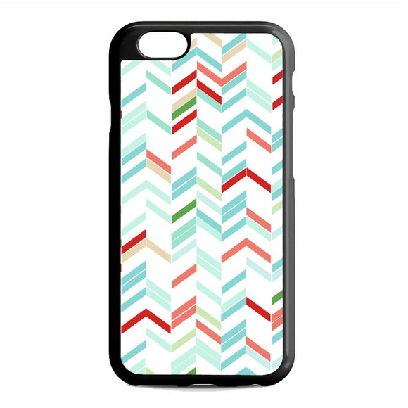 Blue Green Red White Chevron Lines Stripes Arrows iPhone 6 / 6S Case | Republicase