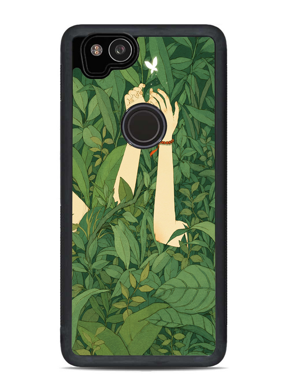 Green Wood Forest Love Butterfly Google Pixel 2 Case | Republicase