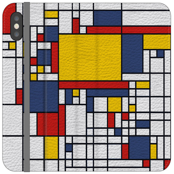 Mondrian Minimalist Map Of The World