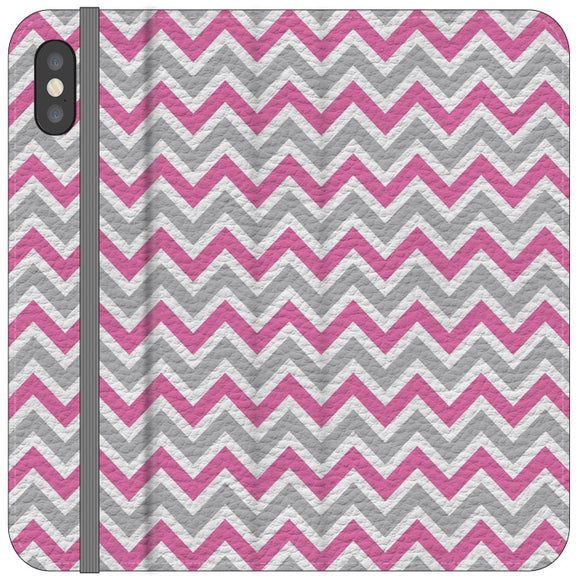 White Gray Pink Chevron