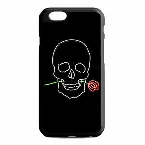 Pastel Black Skull With Rose Neon Sign iPhone 6 / 6S Case | Republicase