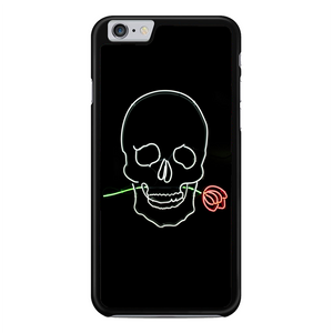Pastel Black Skull With Rose Neon Sign iPhone 6 Plus / 6S Plus Case | Republicase