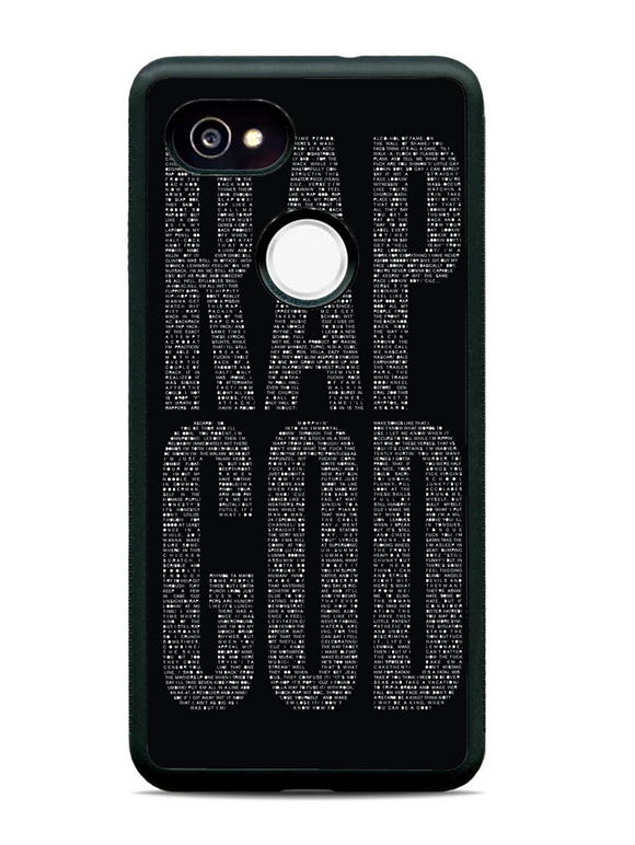 Rap God Eminem Typhographic Black
