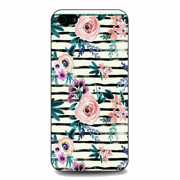 Victoria Floral Stripe iPhone 5/5S/SE Case | Republicase