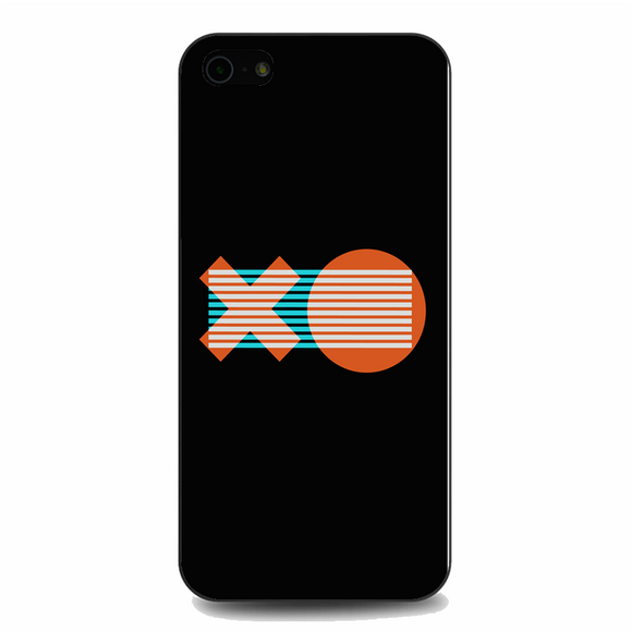 XO Logo Minimal Dark Illustration Art iPhone 5/5S/SE Case | Republicase