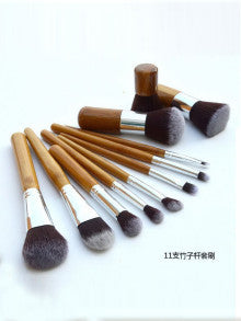 11 Pcs Eyeshadow Cosmetic Brush Set Bag Kit