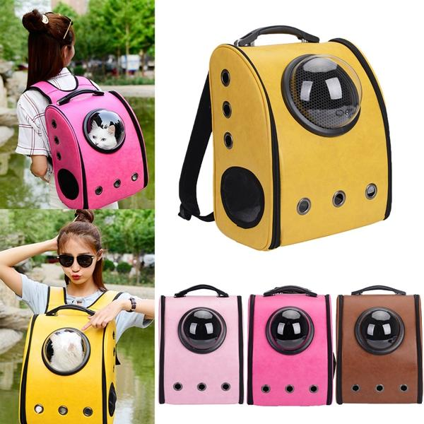 Dog Cat Pet Astronaut Capsule Backpack Carrier Box