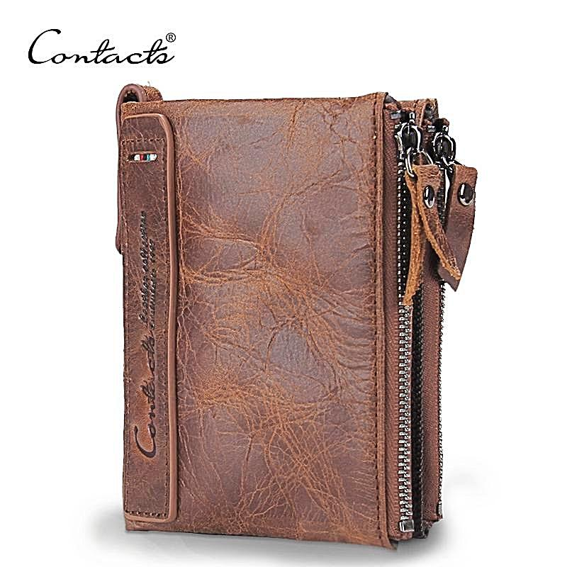 Men's Wallet, Minimalist Vintage Cowhide Leather Wallet