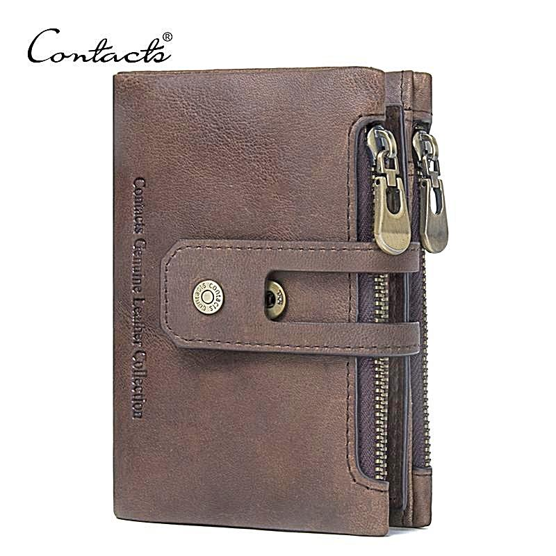Men's Wallet, Leather Wallet With zipper pocket for men