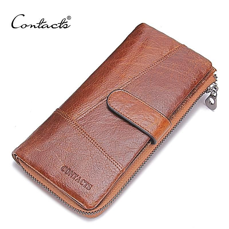 New Fashion Leather Wallets Long Design Phone Purse With Zipper
