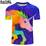 Unicorn By Rachel RosenkoetterArt 3D Print T shirt Brand Men Women