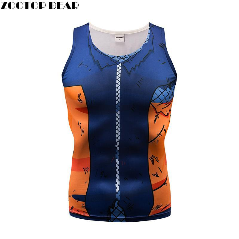 Cool Tank Top Men Women Vest Male singlet Anime Top&Tee