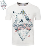 Scandy By Scandy Girl Art Men Tshirt 3D Printing Gentle Wolf shirt Men