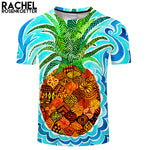 Psychedelic Pineapple By Rachel RosenkoetterArt 3D FruitPrint T shirt