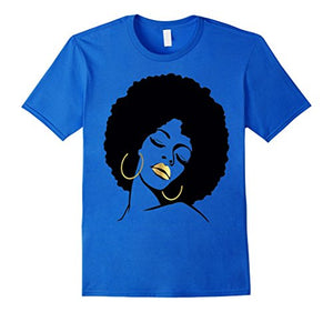 Afro Diva Black Girl Magic Shirt Gold Lips Natural Melanin
