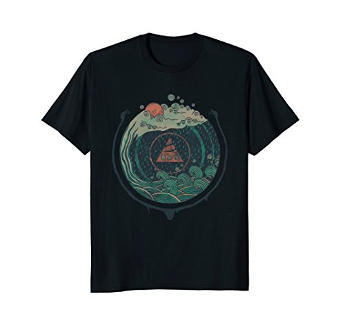 """Water"" Cool Hand Drawn Nature Graphic T-Shirt"