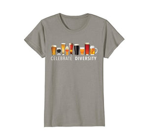 Celebrate Diversity Craft Beer Drinking T-Shirt