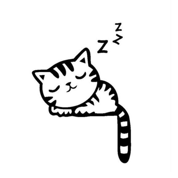 Sleeping Cat Light-Switch Sticker