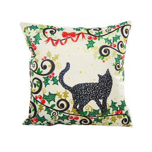 Meowy Christmas Pillow Case