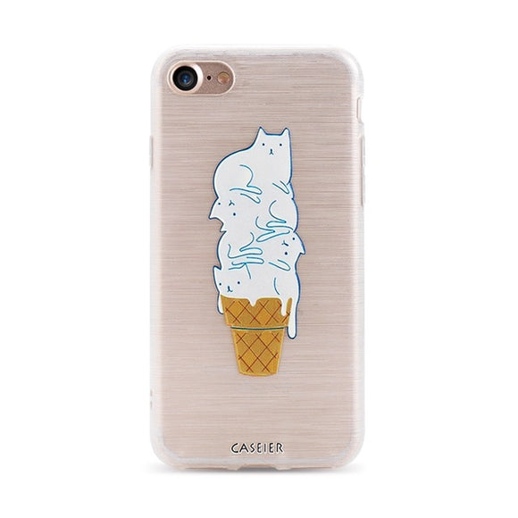 Ice Cream Cats iPhone Case