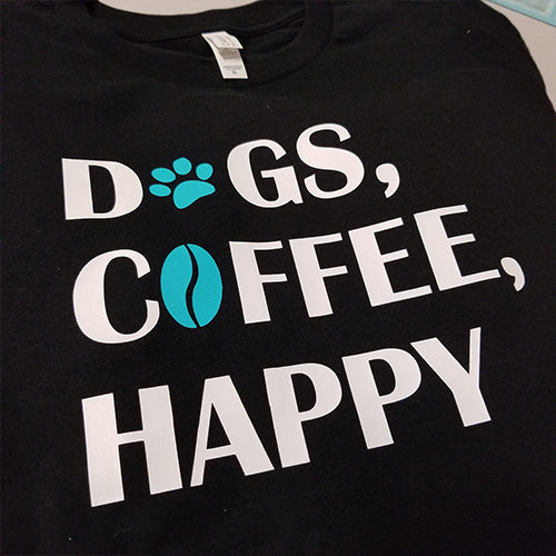 Dogs & Coffee Unisex Short Sleeve Jersey Tee - Paws & Prints Studio