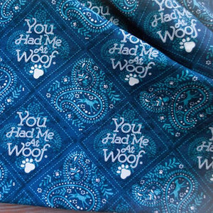 Had Me At Woof Dog Bandana - Paws & Prints Studio