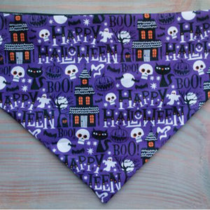Happy Halloween Dog Bandana - Paws & Prints Studio