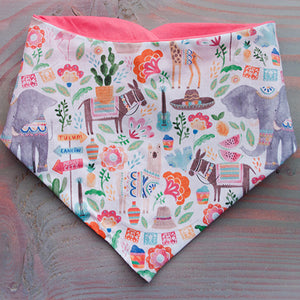 Peachy Keen Dog Bandana - Paws & Prints Studio