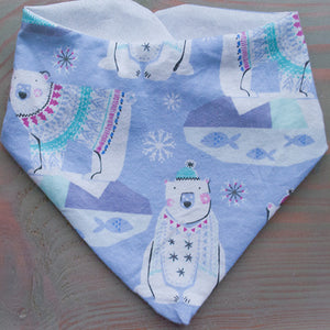 Polar Bear Dog Bandana - Paws & Prints Studio