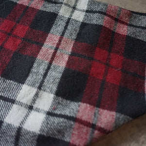 Red Plaid Dog Bandana - Paws & Prints Studio