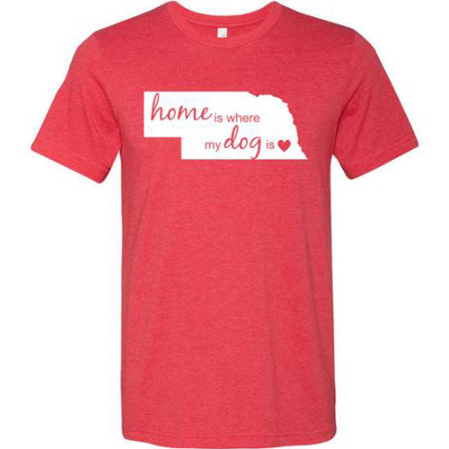 Home Is Where Unisex Short Sleeve Jersey Tee - Paws & Prints Studio