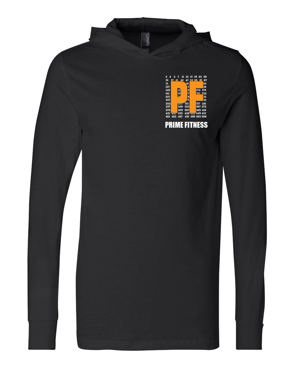 Prime Fitness Long-Sleeved Jersey Hooded Tee - Paws & Prints Studio
