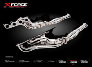 HEADER AND CAT KIT 1-7/8 TO 3 FG FPV COYOTE 5.0L SUPERCHARGEUNPOLISHED HEADERS & CATS