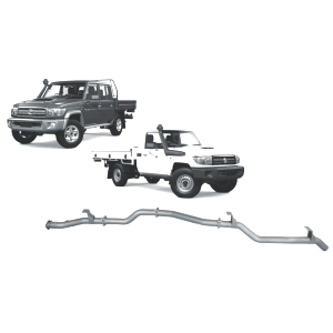 Redback Extreme Duty Exhaust to suit Toyota Landcruiser 79 Series Single and Double Cab (11/2016 - on)