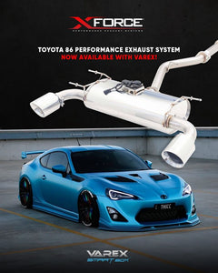 XForce Performance Stainless Steel to suit Subaru BRZ (06/2012 - on), Toyota 86 (01/2012 - on)