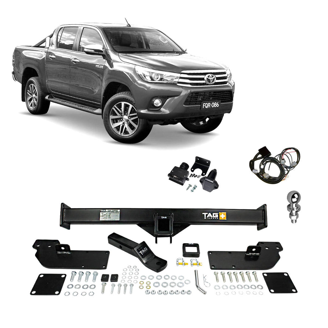 TAG+ Heavy Duty 3 Piece Towbar to suit Toyota Hilux Styleside Models 07/15 - ON